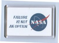 NASA - 'Failure is not an option' acrylic fridge magnet